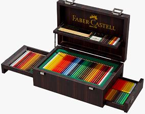 3D asset Faber Castell Art Set Lowpoly