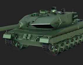 Leopard 2 main battle tank 3D Model low-poly