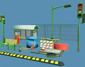 Casual city props 3D model
