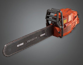 3D asset Chainsaw 02 TLS - PBR Game Ready