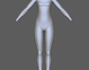 Swim Suit Women 3D model