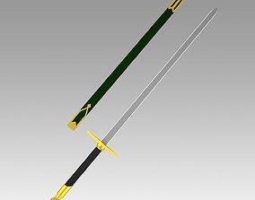3D print model Shirayukihime Zen Wisutaria sword Cosplay 1