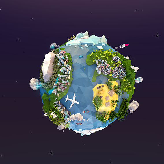 Lowpoly Planet Earth