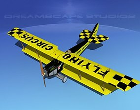 Curtiss JN-2 Jenny V06 Flying Circus 3D model