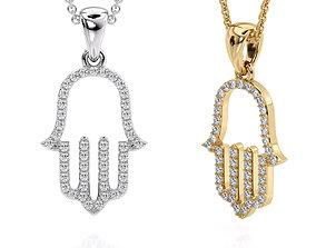 Jewelry Pendant Hamsa Printable model