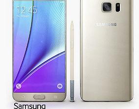 3D Samsung Galaxy Note 5 Gold Platinium