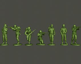 American soldier ww2 A5 Pack 3D