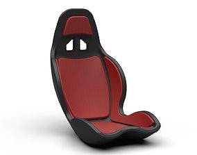 3D model Car Seat leather