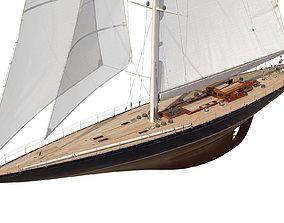 J-Class Yacht ENDEAVOUR JK4 regatta 3D model