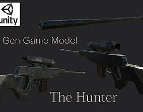Sniper Rifle - The Hunter 3D model game-ready