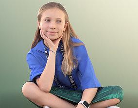 10270 Nina - Smiling Girl Sitting On The Ground 3D model