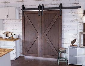 3D model Sliding Barn Door