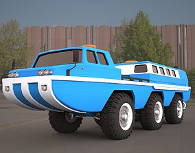 ZIL-49061 water and land vehicle 3d model