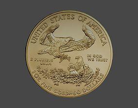 1 Oz American Gold Eagle Coin 3D model