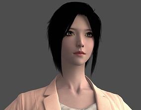 3D asset Chinese Business Leisure Beauty Beautiful Woman 2