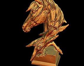 animal 3D print model Decorations Horse head