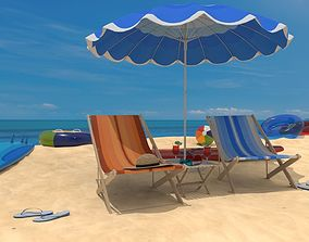 3D model The Beach