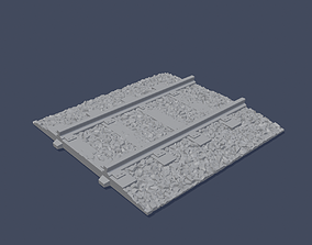 railway Railway Rails - Straight 3D printable model