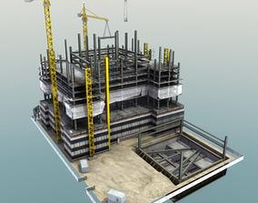 Building Construction Site 3D asset game-ready