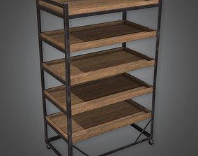 ATT - Shelf With Metal Rim Antiques 02 - PBR Game 3D asset