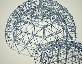 3D model Metallic structure truss 03 Double Dome