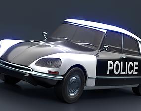 3D asset animated Retro Vehicle