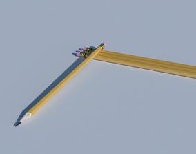 Pencil 3D model picture-frame