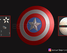The captain America Shield - Infinity War 3D print model 3