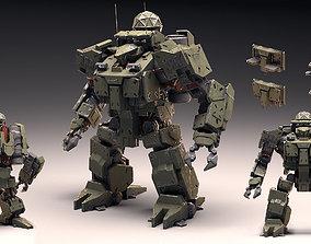 3D model heavy Assault Mech