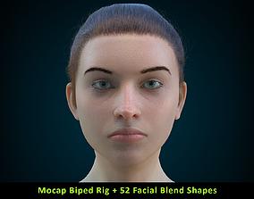 3D model Cinematic Female 004 - Mocap Body Rig - 2