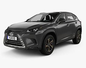 3D model Lexus NX hybrid with HQ interior 2017