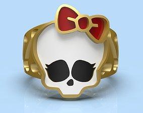 Hello Kitty ring skull 3d model for printing
