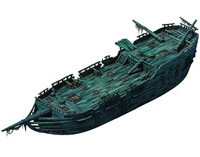 3D model Game Seabed wreckage - wreck wreckage 06