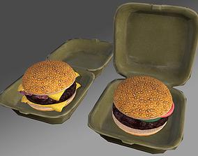 Hamburger box Pack 3D asset