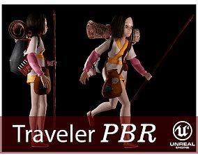 The traveler girl 3D model