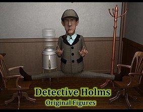 Detective Holmes 3D asset