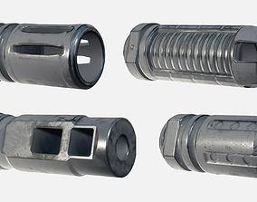 Pack of Barrel Attachments 3D model