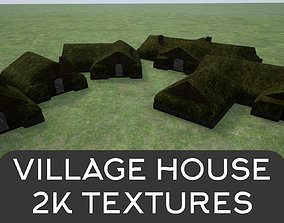 2K Mossy Grass Covered Village Houses 3D asset