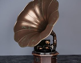 Gramophone art 3D model