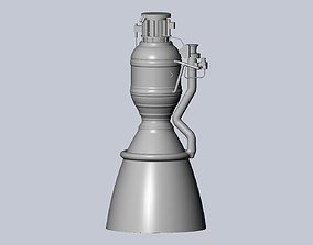 Space-X Merlin 1D Rocket Engine Printable Desk Model