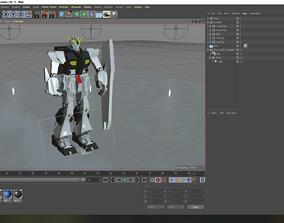 3D model rigged Gundam