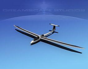 3D model rigged VR / AR ready Venture Sailplane aerobatics