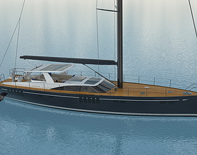 3D model 78 feet Oyster Sailing Yacht