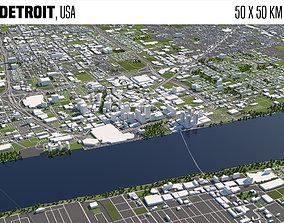 Detroit 3D model trump