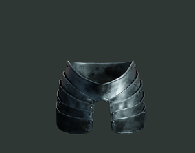 3D model Medieval armor parts 001 - skirt