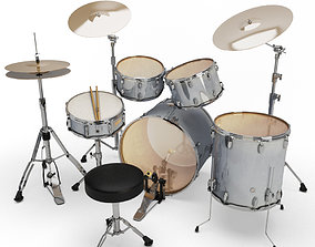 sound 3D model Acoustic Drum Set