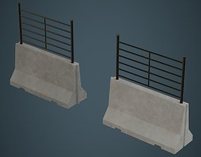 Concrete Barrier 2A 3D asset