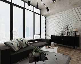 3D model ceiling Living