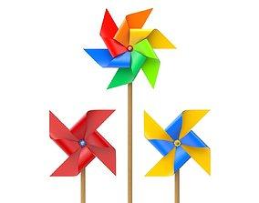 twirl Pinwheel 3D model