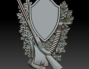 Hunting wall plaque 3d model for CNC